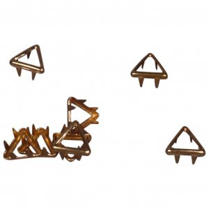 Gold Metal Open Triangle Studs - 8mm