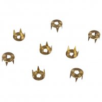 Vintage Retro Gold Metal Round Studs with Rhinestone Backs - 7mm