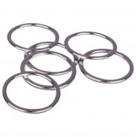 Silver Metal Alloy Rings - 5/8 inch or 16mm