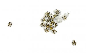 White Metal Round Pyramid Studs - 2mm - 2500 Pieces
