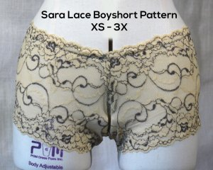 Sara Lace Boyshort Pattern Download