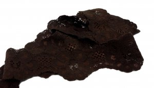 Brown Stretch Lace - 1 inch - 5 Yards