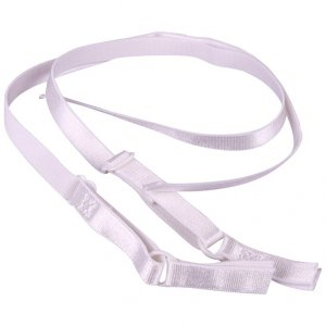 White Bra Straps with Butterfly Imprint - 3/8 inch