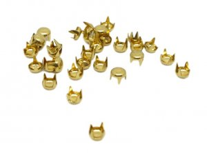 Gold Metal Round Studs - 5mm