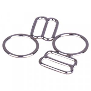Silver Metal Alloy Ring & Slide Set - 1/2 inch or 13mm