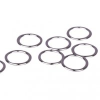 Silver Metal Alloy Rings - 3/8 inch or 10mm