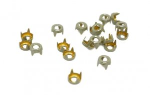 Grey Metal Open Round Studs - 5mm