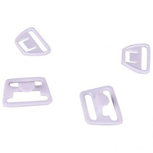 White Plastic Nursing Clips - 3/4 inch or 18mm - 10 Sets