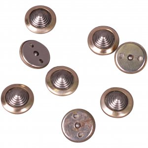 Gold Metal Button Disks - 13mm