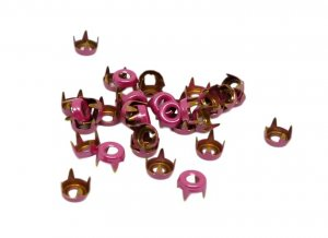 Pink Metal Open Round Studs - 5mm