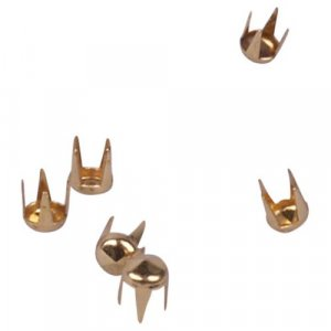 Gold Metal Round Pyramid Studs - 3mm