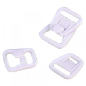 White Plastic Nursing Clips - 3/8 inch or 10mm - 10 Sets