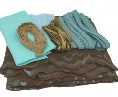 Brown and Blue Lace Kit for Rachel Brief