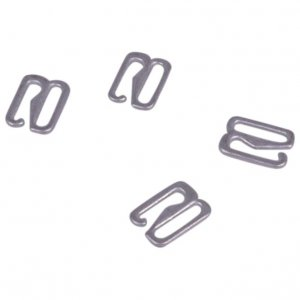 Antique Silver Metal Alloy Hooks - 3/8 inch or 10mm