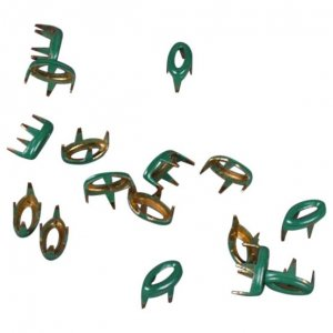 Green Metal Open Oval Studs - 5mm