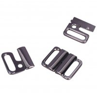 Silver Metal Alloy Front Closure - 1/2 inch - 1 Set