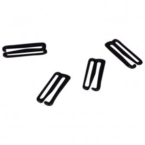 Black Metal Slide Hooks - 7/8 inch or 22mm
