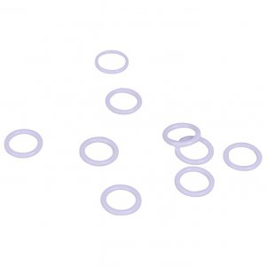 Quality White Plastic Rings - 1/4 inch or 7mm