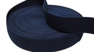 Navy Blue Belt Elastic - 1 5/8 inch - 1 yard