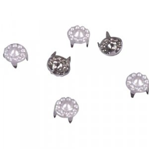 White Decorative Metal Round Studs - 7mm
