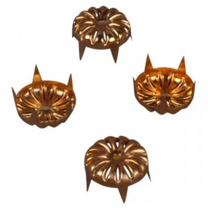 Gold Decorative Metal Round Stud - 13mm