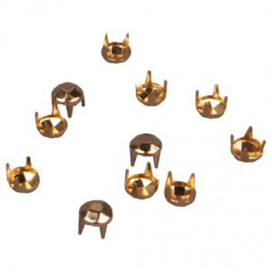 Gold Metal Round Pyramid Studs - 5mm