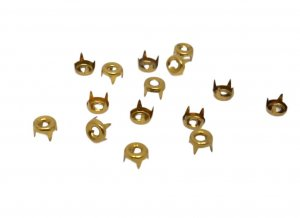 Antique Gold Metal Round Open Studs - 5mm