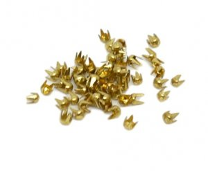 Gold Metal Round Studs - 2mm - 2500 Pieces