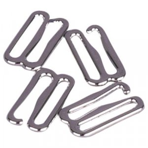 Silver Metal Alloy Slide Hooks - 5/8 inch or 16mm