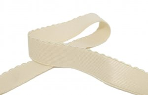 "Cream Strap or Waistband Elastic - 7/8"" Wide"