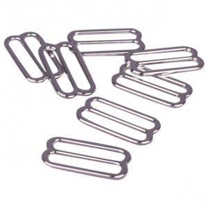Silver Metal Alloy Slides - 3/4 inch or 19mm