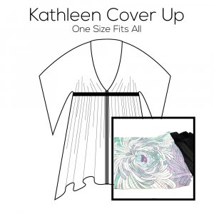 Kathleen Cover Up Pattern with Blue Fabric Kit