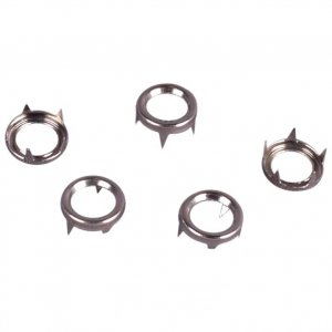 Silver Metal Open Round Studs - 9mm