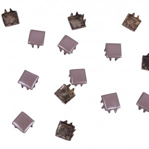 Taupe Metal Square Studs - 6mm - 50 pieces
