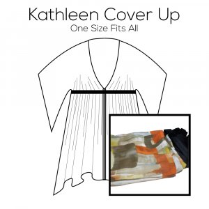 Kathleen Cover Up Pattern with Green Fabric Kit
