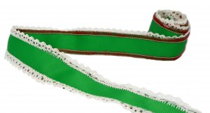 "Red and Green Festive Ribbon - 1 3/4"" Wide - 1 7/8 Yards"