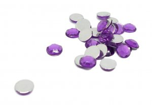Bright Purple Rhinestones - 8mm