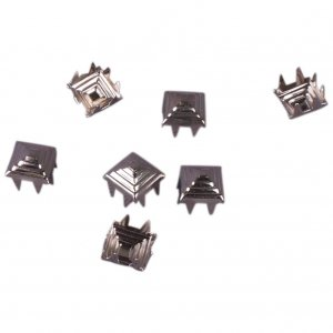 Silver Metal Pyramid Square Studs - 6mm