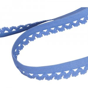 Light Blue Decorative Edge Elastic