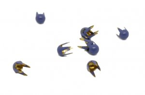 Blue Purple Metal Round Bubble Studs - 4mm