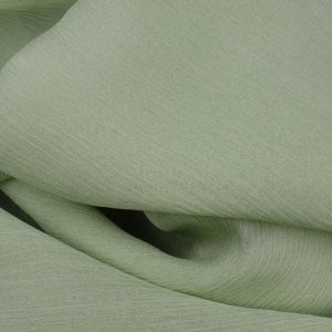 Light Green 100% Silk Crinkle Chiffon - 45 inch - 1 2/3 Yard
