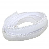 Plush Decorative Edge White Band Elastic - 1/2 inch or 12mm