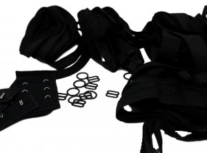 "Bra Making Starter Kit - Black 3/4"" Hardware Set"