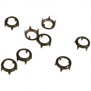 Army Green Metal Open Round Studs - 9mm