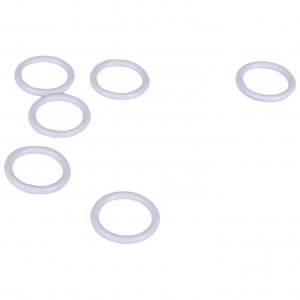 White Plastic Rings - 3/8 inch or 10mm