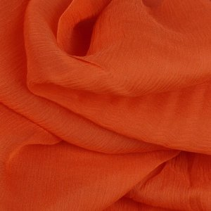 Orange 100% Silk Crinkle Chiffon - 45 inch wide - 1 2/3 Yard