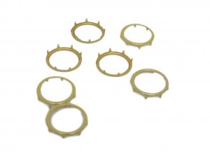 Yellow Gold Metal Open Round Stud - 14mm