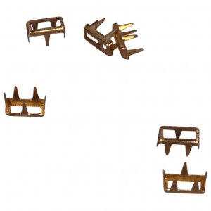 Gold Metal Open Rectangle Studs - 7mm