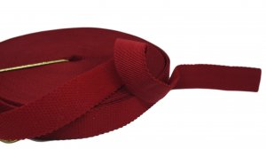 Scarlet Red Strap or Waistband Elastic - 1 inch - 3 Yards