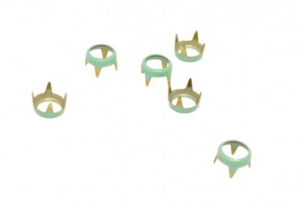 Teal Metal Open Round Studs - 5mm